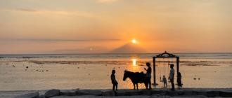 Янош Бачин на островах Гили